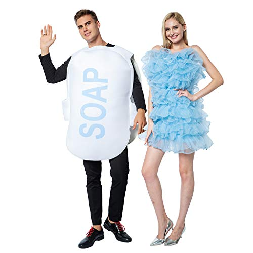 Unisex Soap and Loofah Costumes for Adult Couple