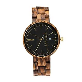ACMEDE-Lightweight Wood Quartz Analog Watch Wooden Casual Wristwatch for Men
