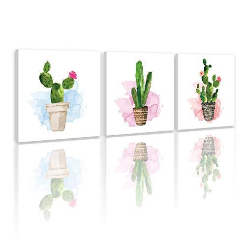 Planta,maceta,cactus,verde blanco_Cuadro