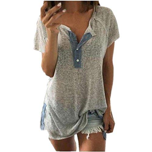 Hemd Damen Kolylong Frau Beiläufig Baumwollmischung Tops Taste Dekoration Bluse (XXXL) (Rose Print Cardigan)
