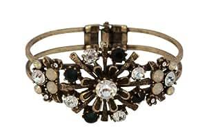 Azzaria & cristal Swarovski Pierre noire Bangle...Diameter :  6,5 cm