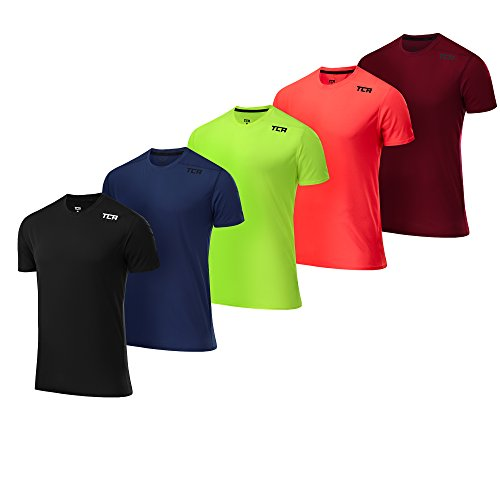 TCA Men's Essential Grid Check Short Sleeve Breathable Running Top