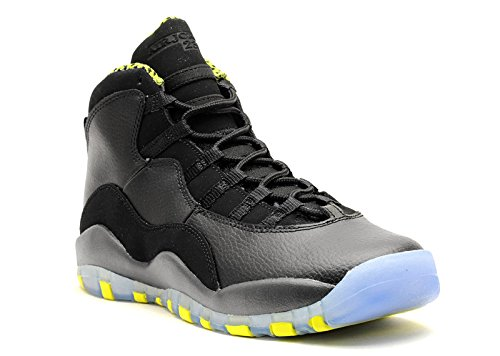 Nike Jungen Air Jordan 10 Retro BG Turnschuhe, Schwarz/Grün/Grau (Schwarz/Vnm Grün-CL Gry-Anthrct), 36 EU (Stiefel Nike Jordan Air)