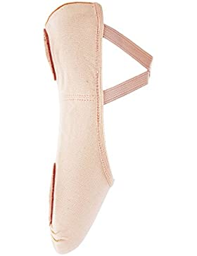 So Danca Ballettschläppchen, Leinen elastisch, Weite C