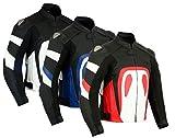 Texpeed RS - Herren Motorradjacke für Rennen mit entfernbaren Protektoren - erhältlich in 3 Farben - Schwarz & Weiß - 4XL - EU62