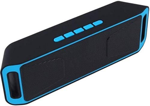 KS-Electro Wireless Bluetooth Mobile Speaker SR-525 A2DP Stereo with 6 Hour Playback Time and TF/USB/AUX Audio Port Compatible with All Smartphones