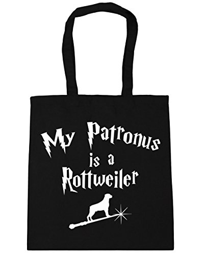 hippowarehouse-my-patronus-is-a-rottweiler-tote-shopping-gym-beach-bag-42cm-x38cm-10-litres