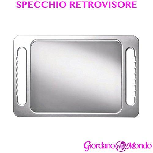 Specchio retrovisore rettangolare a doppia impugnatura portatile professionale per parrucchiere