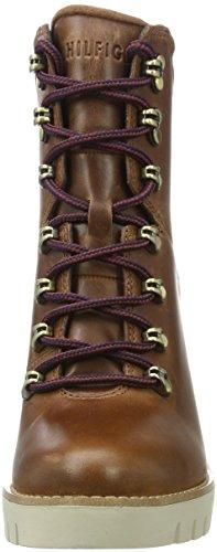 Tommy Hilfiger Damen P1285aola 5a Combat Boots Braun (winter Cognac)