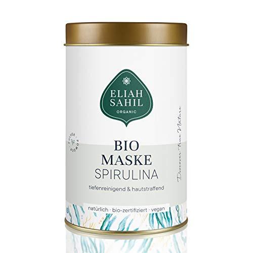 BIO Spirulina Gesichtsmaske I Plastikfreie Verpackung I Tiefenreinigende Algen Maske I Mitesser und Pickel entfernen I Tägliches Rituals - Vitamin C Detox