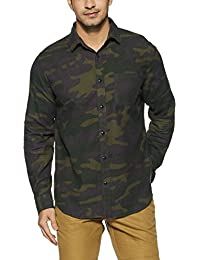 GAP Men's Plain Regular Fit Cotton Casual Shirt