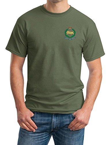 Il re Own Royal reggimento di confine ricamato Logo–Ufficiale dell' esercito britannico Ringspun cotone t shirt da militare online Military Green