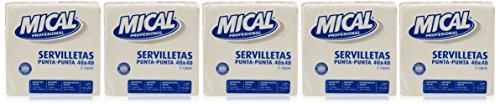 Mical-Tovaglioli bianche-Set di 5 confezioni x 50 pezzi