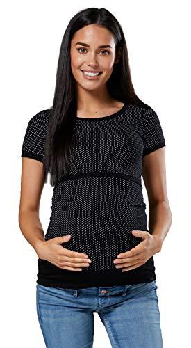 HAPPY MAMA. Mujer Premamá Amamantamiento Camisa Cuello