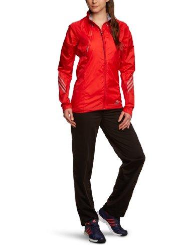 adidas Damen Laufjacke Supernova, vivid red s13/tech grey f12, XL, Z34652 -