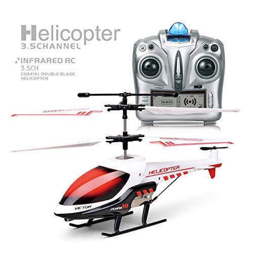 MKZDGM RC Hubschrauber, Ferngesteuertes Spielzeug, 3.5CH Hubschrauber,Eingebautes Gyroskop und LED-Leuchten,Spielzeug für Kinder und Erwachsene, Jungen und Mädchen,, Indoor-Spielzeug, Hubschrauber