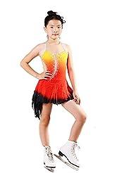 Pegajosa de Vestir Vestido de Patinaje Artístico Leotardo para Gimnasia para Mujer ChicasNiña 8