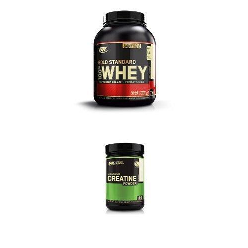 Optimum Nutrition Gold Standard Whey Vanilla Ice Cream 2.27kg with Creatine 317g