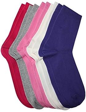 Weri Spezials 5-er Set Kindersocken fuer Meadchen Farben im Set: cr?me, grau meliert, lila, dunkel rosa, pink