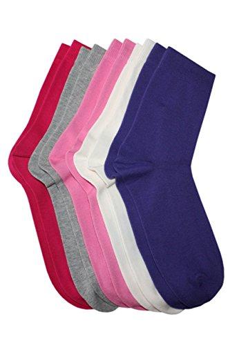 Weri Spezials Weri Spezials 5-er Set Kindersocken fuer Meadchen Farben im Set: cr?me, grau meliert, lila, dunkel rosa, pink Gr.23-26 (3-4 Jahre)