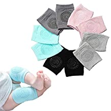 5 Pairs Baby Kneepads Crawling Anti Slip Knee Breathable High Elastic Sponge Kneepads for Baby