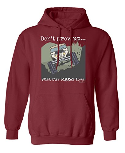 Don`t Grow Up..Just Buy Bigger Toys Truck 4 x 4 Scelta di con cappuccio o un maglione Uomo Donna Unisex (Hoodie) Burgundy