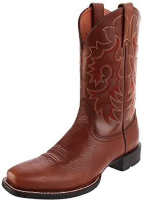 1f233015b9a ARIAT Men's Heritage Reinsman Western Cowboy Boot, Briar/Oxblood ...