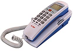 Orpio Orientel KX-T555 Jumbo LCD Landline Caller Id Telephone Corded Phone (White)