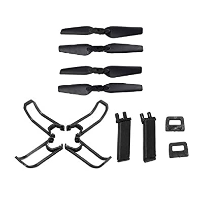 Ocamo Guard Protection Cover Set For Eachine E58 RC Quadcopter Spare Parts Propeller Blades Landing Gear Propeller
