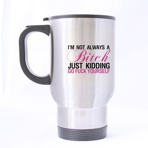 XOX-T Awesome Travel Coffee or Tea Mug with Shhh,there is beer in here funny saying two sides designed styleCustom Stainless Steel 14-Ounce Travel Mug (sliver) color-5