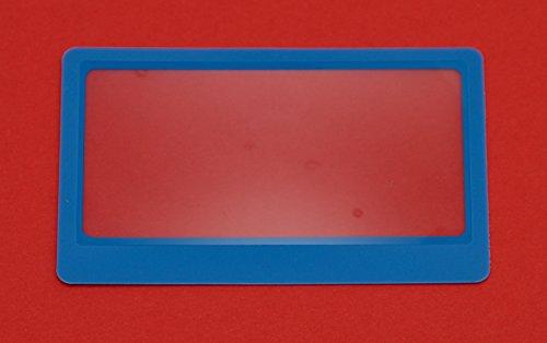 3 x Carta di CRossoito Fresnel Lente d'Ingrandimento Occhiali da Vista / Occhiali da Lettura in Blu Cornice - 3x3 Cornice