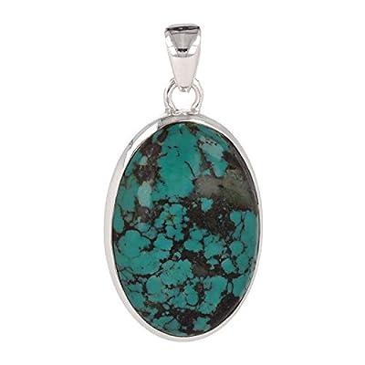 cadeau original femme-Pierres fines-Pendentif-Pierre de Turquoise-Argent massif-Femme