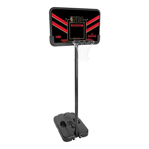 Spalding Korbanlage NBA Highlight Portable, Schwarz/Rot, 44, 3001653011444 Spalding Basketballkorb Portable