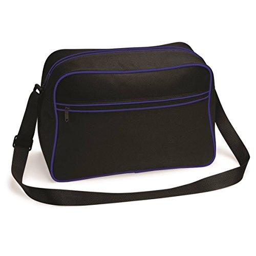 Große Retro Schultertasche von BagBase - 15 Farben verfügbar Bright Royal/White