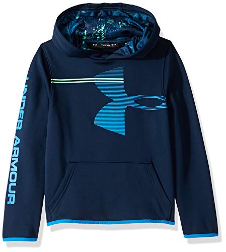 Under Armour Jungen Armour Fleece Hoodie, Jungen, Kapuzenpullover, Boys' Armour Fleece Hoodie, Academy (408)/Blue Circuit, Jugend Large (Under Armour-jugend Jungen)