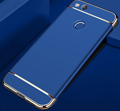 Huawei Honor 8 Lite / Huawei P8 Lite (2017) Hülle, MSVII® 3-in-1 Design PC Hülle Schutzhülle Case Und Displayschutzfolie für Huawei Honor 8 Lite / Huawei P8 Lite (2017) - Schwarz JY50081 Blau