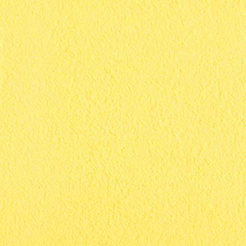 #10 Etérea Teddy Flausch Kinder-Spannbettlaken, Spannbetttuch, Bettlaken, 18 Farben, 60×120 cm – 70×140 cm, Gelb - 2