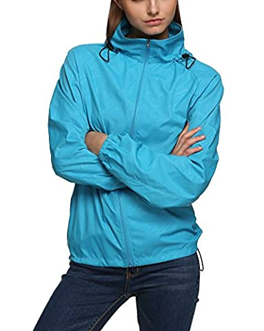 New fashion Waterproof Climbing Running Outdoor Hoodie Coat Sport Cycling Jacket Sky Blue XX-Large