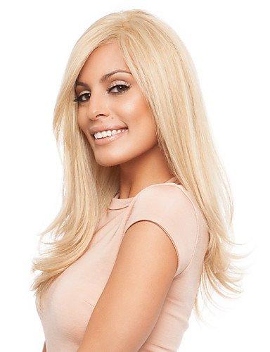 YLE Capless lange stilvolle Frauen natürliche gesunde Haarwelle Mädchen lockigen blonden Perücken ()