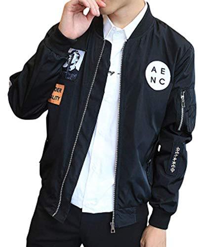 Herren Bomberjacke Männer Nner Baseball Jacke Hip Hop Einfacher Stil Patch Designs Slim Fit Pilot Bomberjacke Mantel Männer Nner Casual...