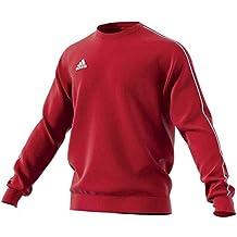 Adidas CORE18 SW Top Sweatshirt, Hombre, (Rojo/Blanco), L