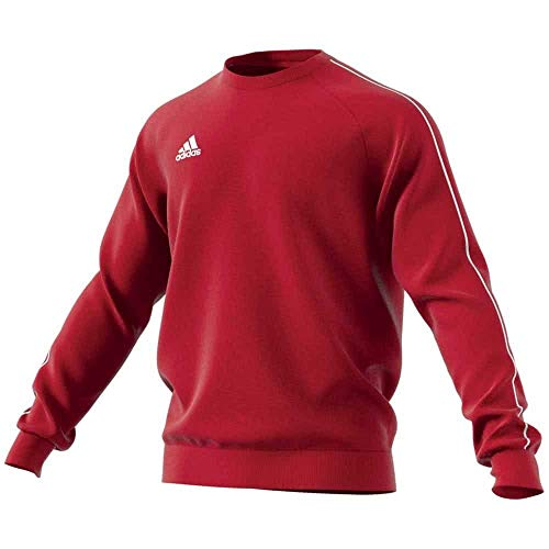 ADIDAS Herren CORE18 Sweatshirt, Power red/White, M