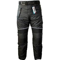 German Wear GW350T - Pantalones de Moto, Negro, 54 EU/XL: 104 cm