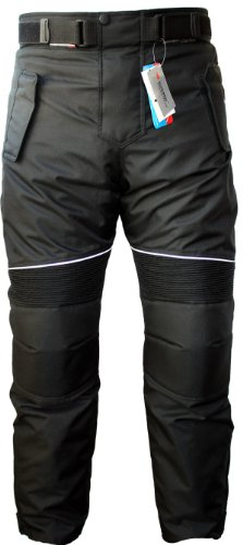German Wear, Pantalones de Moto, Negro, 52/L