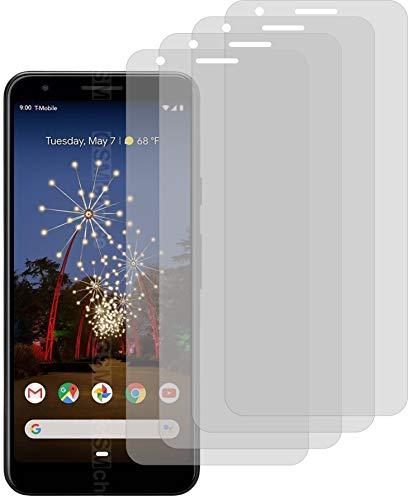 4X Crystal Clear klar Schutzfolie für Google Pixel 3a Bildschirmschutzfolie Displayschutzfolie Schutzhülle Bildschirmschutz Bildschirmfolie Folie