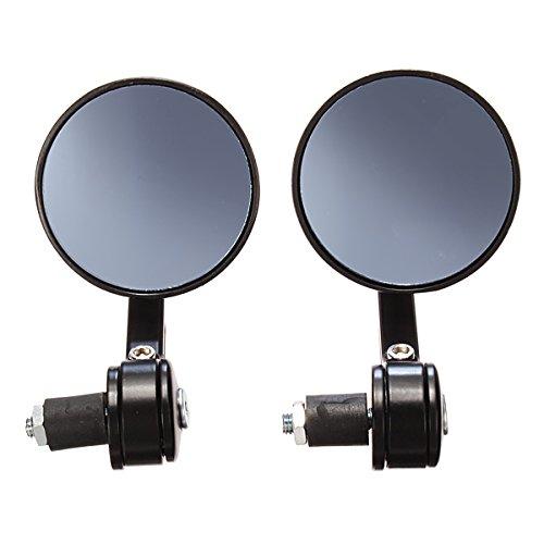 JenNiFer 7/8 CNC Universal Motorcycle Handlebar Black Rear View Mirror