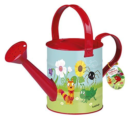 moses. 16113 Krabbelkäfer Gießkanne | Gartengerät für Kinder | Fassungsvermögen 2 Liter, bunt (Gießkannen Kinder)