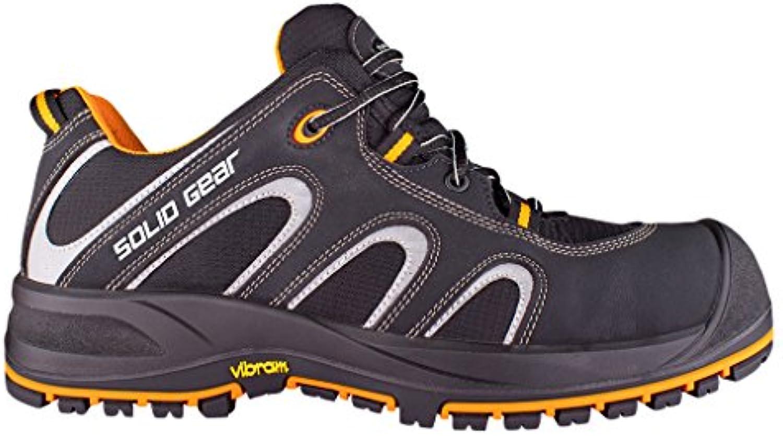 Solid Gear sg7300137 Griffin – Zapatos de seguridad S3 talla 37 NEGRO/NARANJA