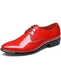 Amazon.it  scarpe da uomo eleganti - Rosso   Scarpe da uomo   Scarpe ... 54ac0741600