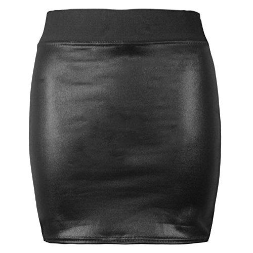 Purple Hanger Damen Etui Rock Gr. 50/52, Wet Look Mini Skirt - Wet-look Mini
